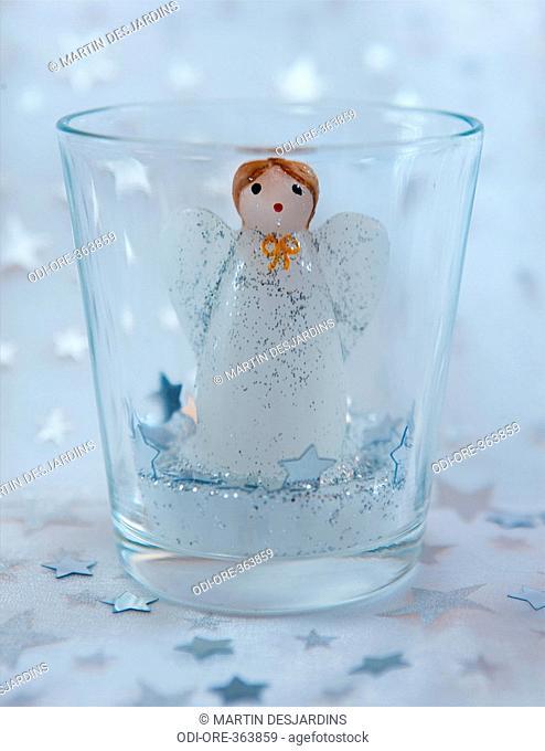 Angel candle jar