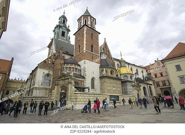 KRAKOW POLAND ON SEPTEMBER 23, 2018: Wavel castle and cathedral in Krakow Poland