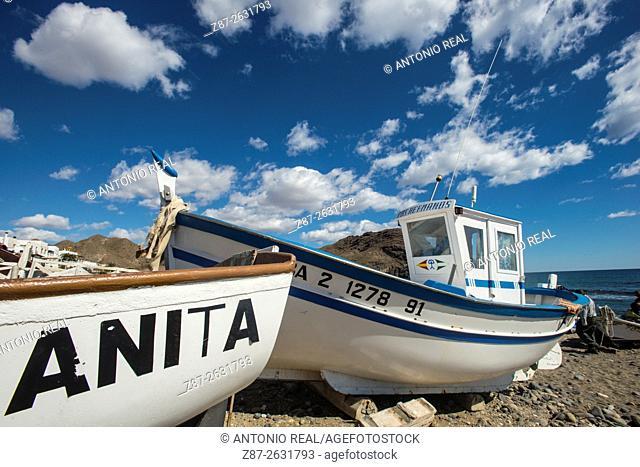 Playa de Las Negras, Parque Natural del Cabo de Gata, Almeria province, Andalusia, Spain