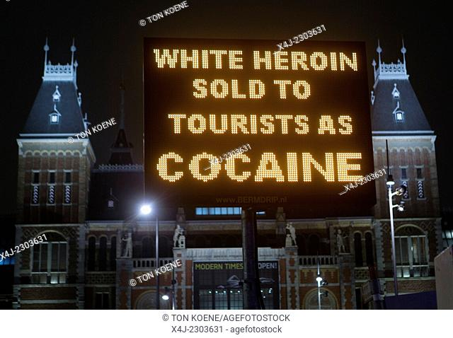 hard drugs warning to tourists in Amsterdam