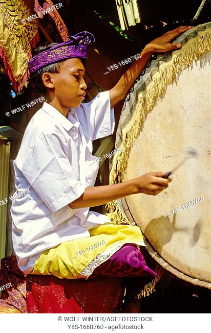 Gamelan drummer