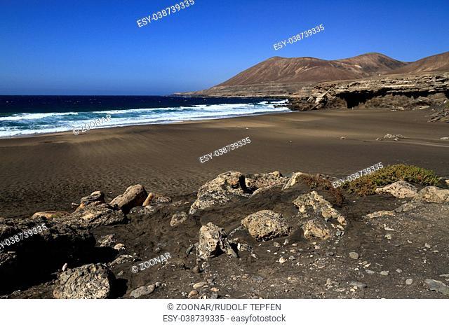 The famous lagoon in Playa la Solapa, Fuerteventura