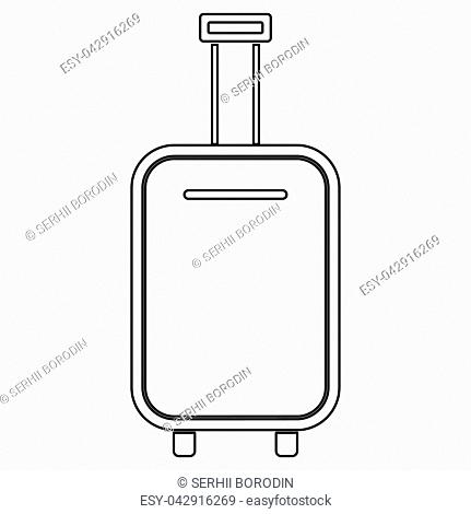 Luggage bag it is black color path icon