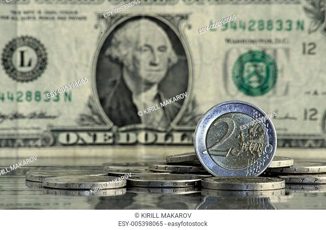Concept of euro and dollar