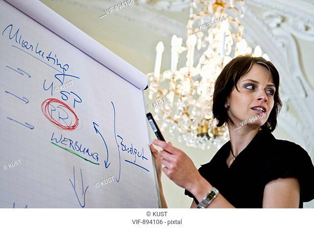 referent vor flipchart - Austria, 07/07/2008