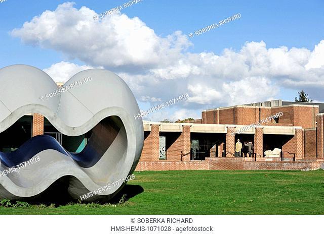 France, Nord, Villeneuve d'Ascq, LAM (Lille Metropole Museum of Modern Art, contemporary art and art brut), Richard Deacon sculpture entitled Between Fiction...