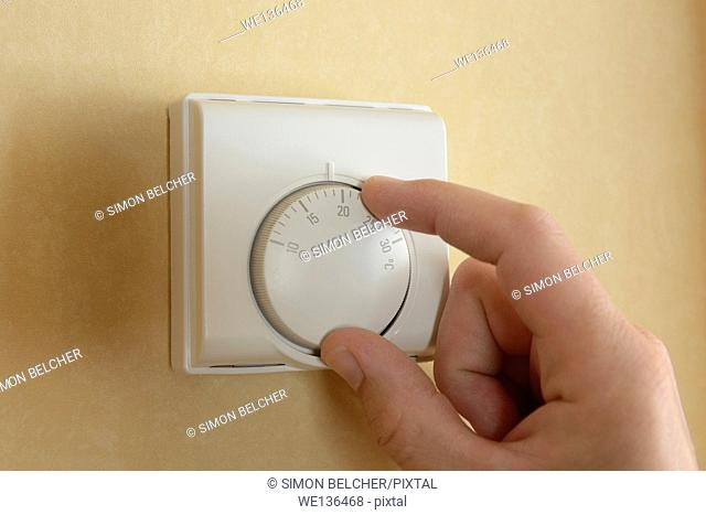 Thermostat Control for a Central Heating System