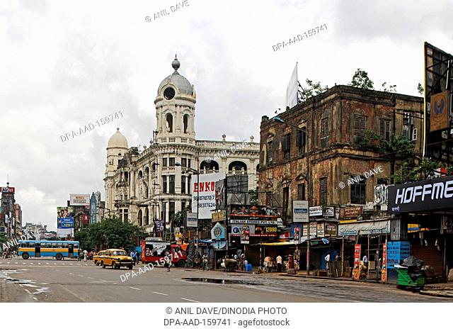Chowringhee road or Jawaharlal Nehru road , Calcutta Kolkata , West Bengal , India Heritage