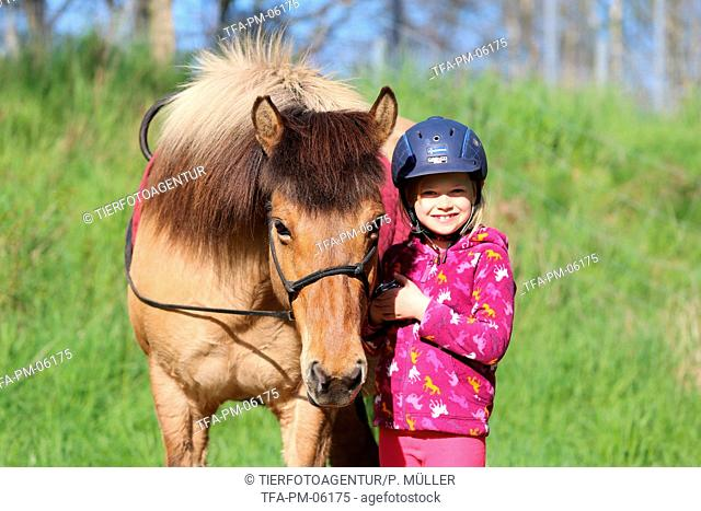 girl and Icelandic horse