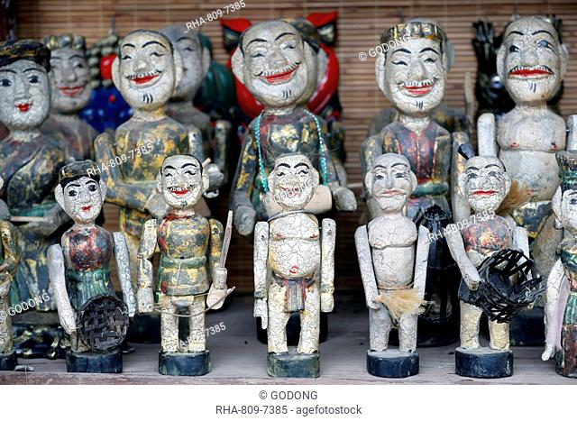Water puppets lined up for sale, Temple of Literature, Hanoi, Vietnam, Indochina, Southeast Asia, Asia