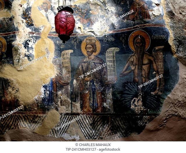 Europe, Greece, Peloponnese, Arcadia, Ioannis Prodromos Monastery , Lousios' s Gorge