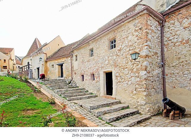 The medieval fortress Rasnov, Brasov, Romania, Europe