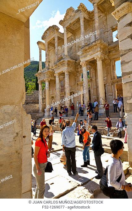Library of Celsus, Efeso, Mediterranean Sea, Region IZMIR ESMIRNA, SELÇUK, TURKEY