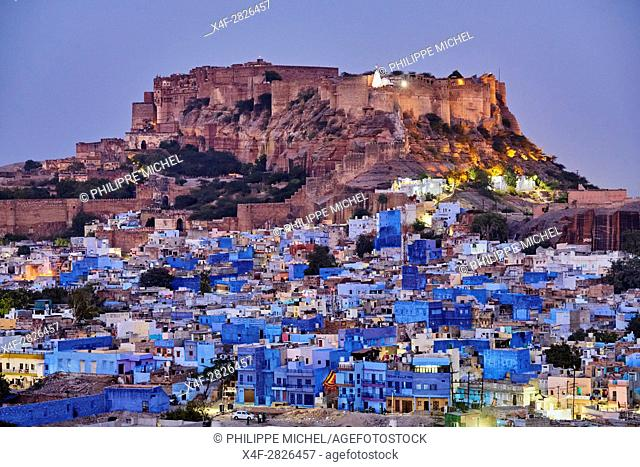 India, Rajasthan, Jodhpur, the blue city, Mehrangarh Fort