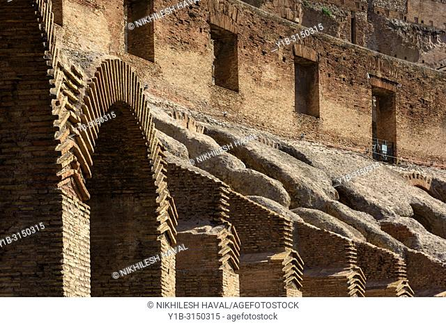 Arches detail, Colosseum, Rome, Italy