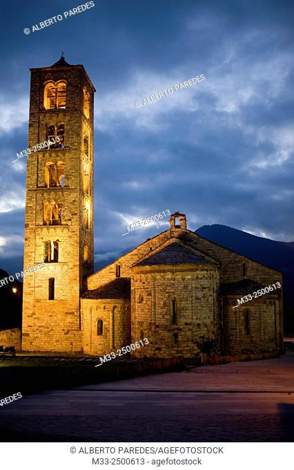 Sant Climent de Taull romanesque church. Taull, Vall de Boi, Lleida, Catalonia, Spain. Unesco World Heritage Site