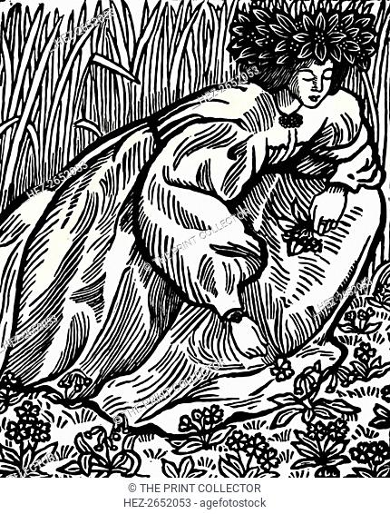 'The Poems of Ronsard. Original Woodcut', 1902, (1923). Pierre de Ronsard (1524-1585) was a French poet or, as his own generation in France called him