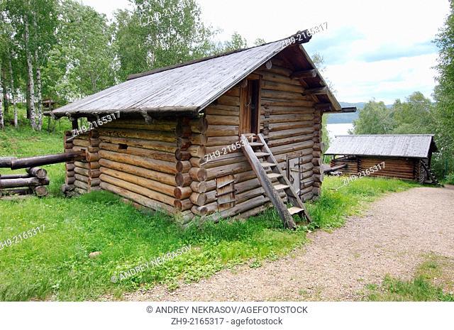 "old water-mill, """"Taltsa's"""" (Talzy) - Irkutsk architectural and ethnographic museum. Baikal, Siberia, Russian Federation"
