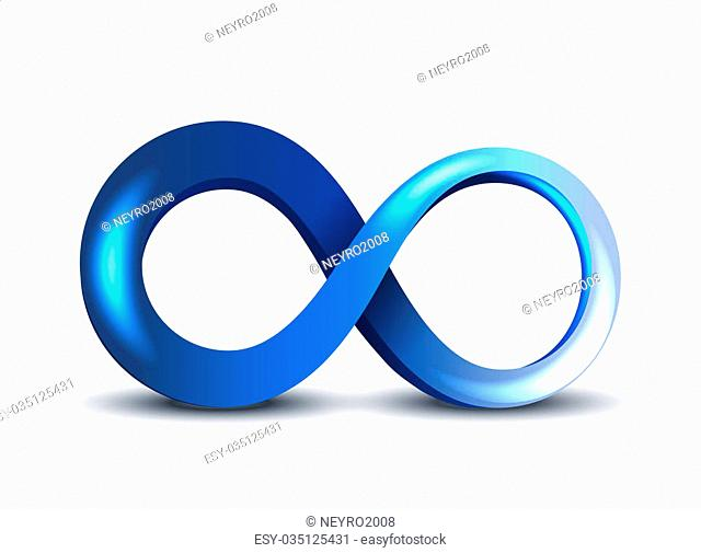 Blue Infinity Symbol on white background