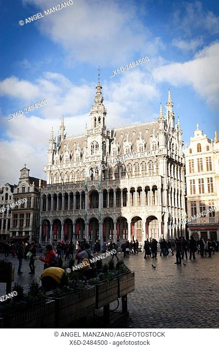 The Maison du Roi (King's House) on the famous Grande Place in the City Centre of Brussels, Belgium