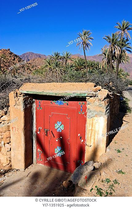 Painted door, Tafraoute, Morocco
