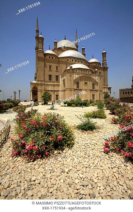 Exterior of Mosque of Muhammad Ali Pasha in the citadel of Cairo, Egypt
