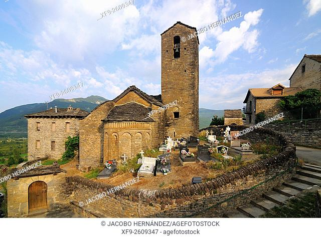 Romanesque church of San Martín in Oliván.11th century.El Serrablo.Huesca province.Aragón.Spain
