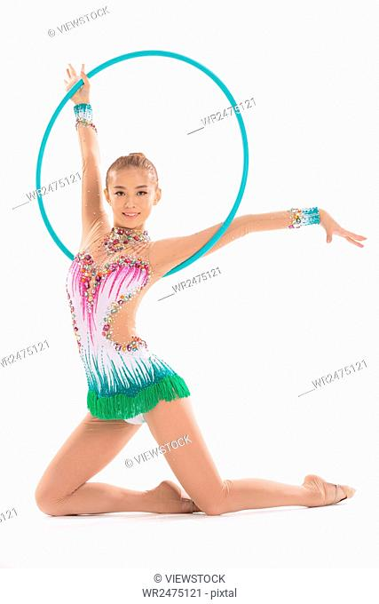 Female gymnastics athlete