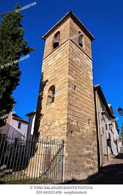 Albaicin San Jose church in Granada of Spain