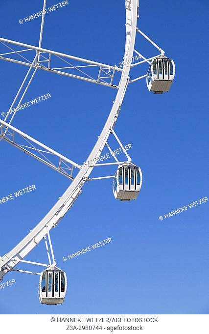 Giant ferris wheel in Malaga, Spain, Europe