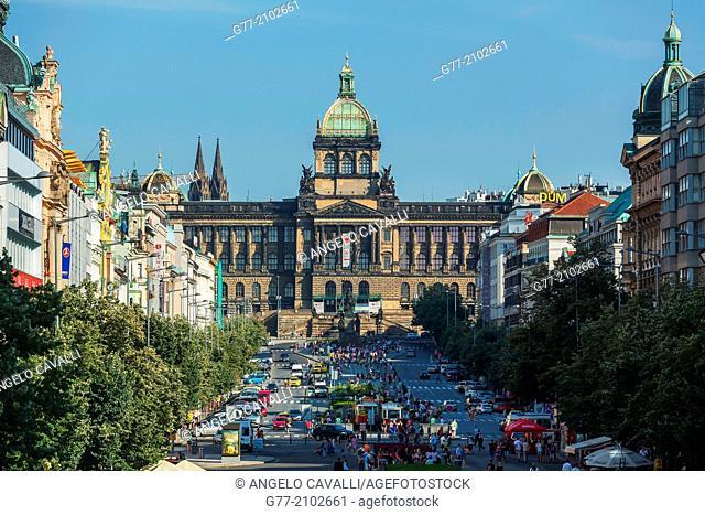 Czech Republic. Prague. The Old Town. Wenceslas Square