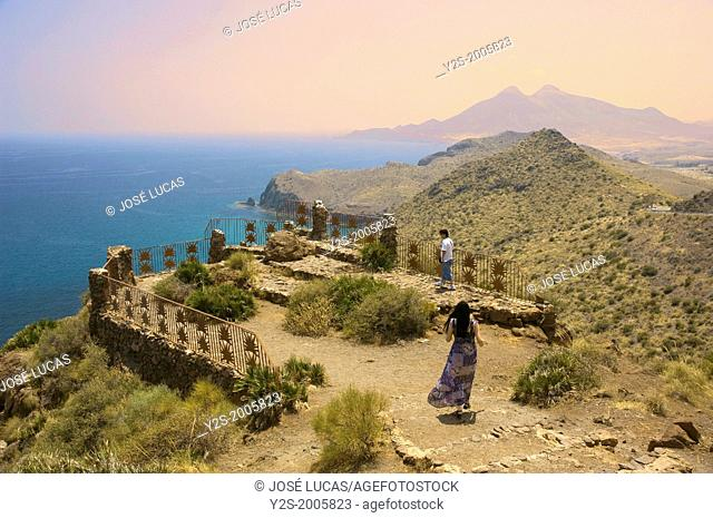Lookout point of the Amatista, Natural Park of Cabo de Gata-Nijar, Almeria-province, Region of Andalusia, Spain, Europe