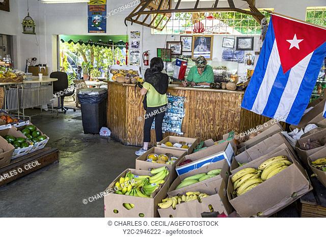 Miami, Florida. Little Havana Cuban Fruit Store, Los Pinarenos Fruteria