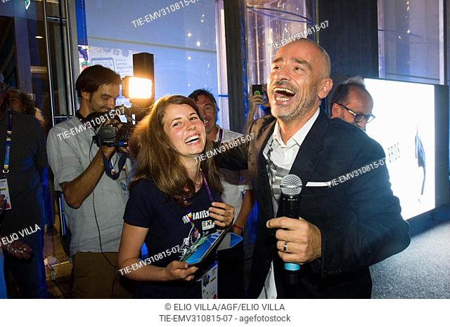 Eros Ramazzotti with fans at Milan Expo 2015, Milan, ITALY-28-08-2015