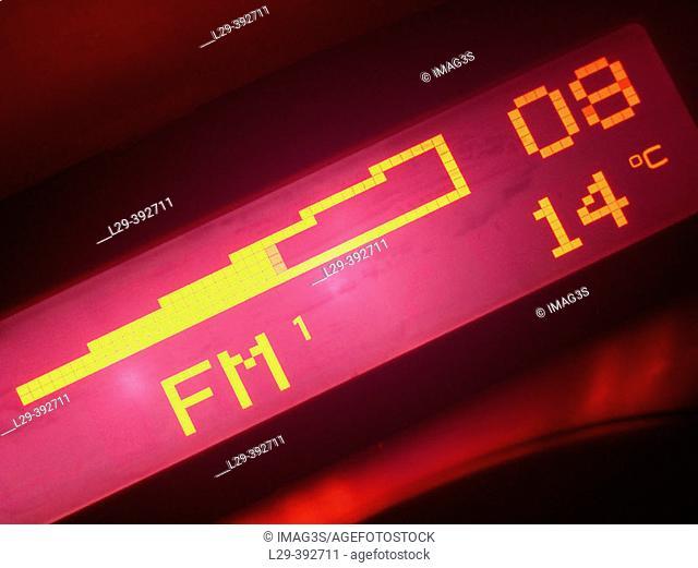 Car audio radio display