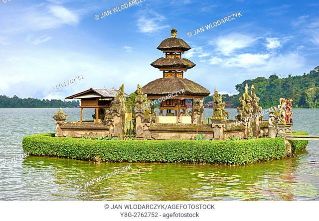 Pura Ulun Danu Temple on the Bratan Lake, Bali, Indonesia
