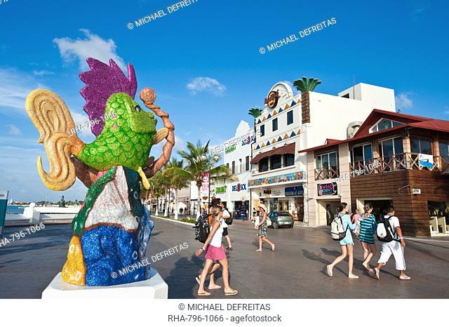 Carnival decorations in San Miguel, Isla de Cozumel Cozumel Island, Cozumel, off the Yucatan, Quintana Roo, Mexico, North America