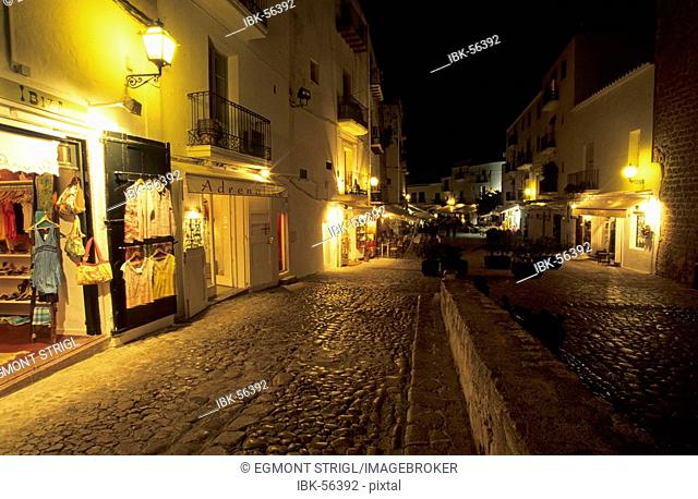Lane at the historic center of Eivissa, Dalt Vila, Ibiza