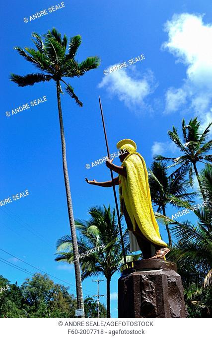 Original King Kamehameha I Statue, Kapaau, Big Island, Hawaii, USA