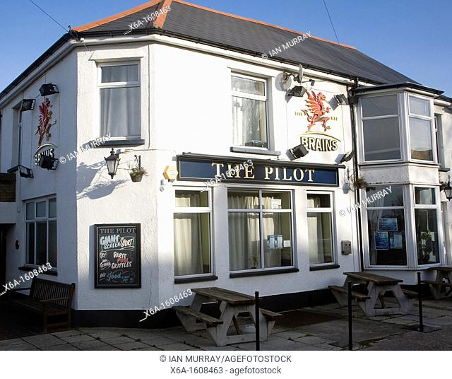 The Pilot pub, Penarth, Glamorgan, Wales