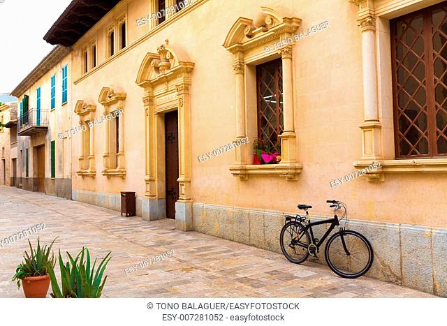 Alcudia Old Town city town hall in Majorca Mallorca Balearic island of Spain Ayuntamiento