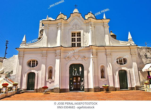 Chiesa di Santa Sofia, Santa Sofia Church, Anacapri, Capri island, Campania region, Tyrrhenian Sea, Italy, Europe