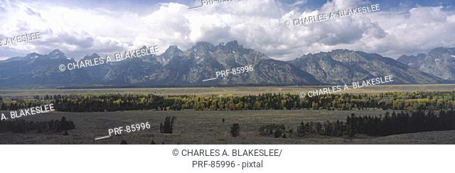 Clouds over Grand Teton National Park WY