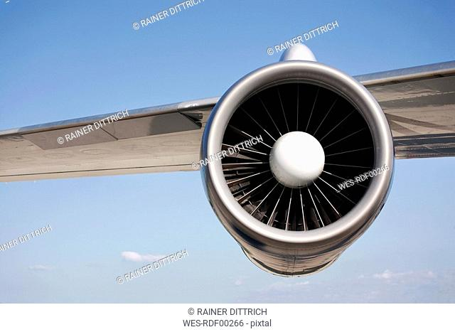 Jet engine, close-up