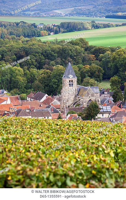France, Marne, Champagne Ardenne, Avenay Val-d'Or, town overview