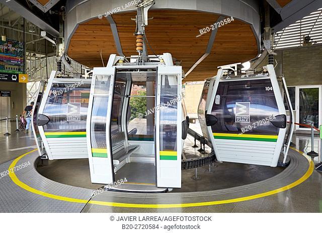 Metrocable, Estacion de San Javier, Medellin, Antioquia, Colombia, South America