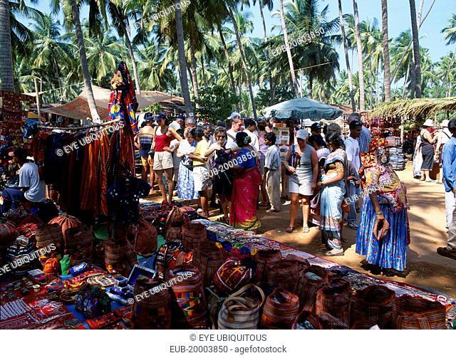 Flea market, stalls selling tourist souvenirs