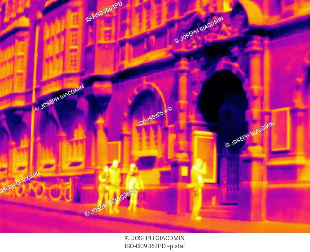 Thermal image of Town Hall, Oxford, England, UK