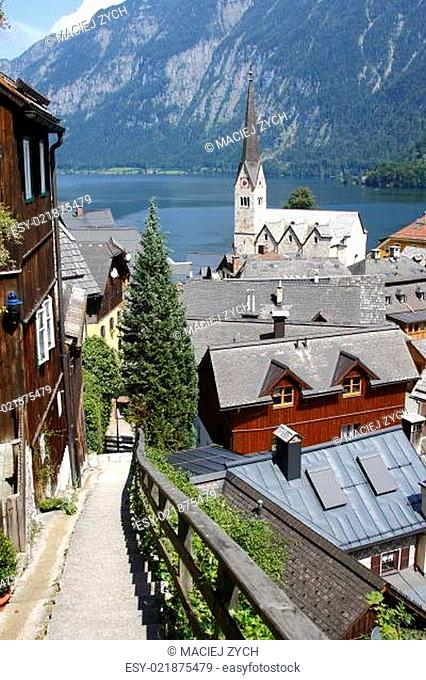 Austria : view on the small historical village