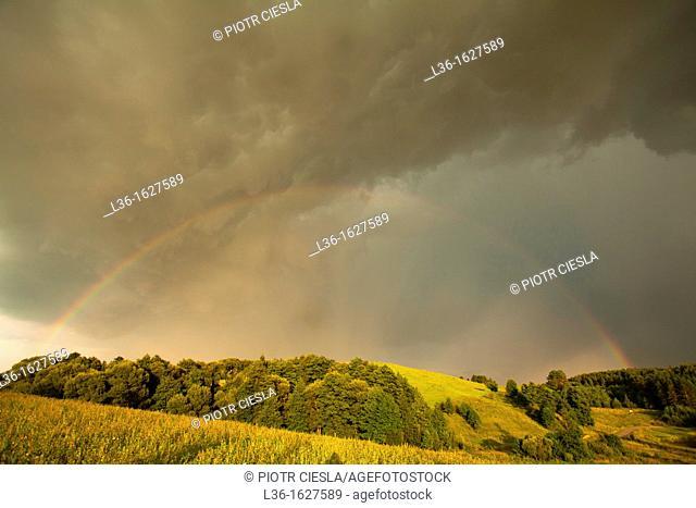 After a storm Suwaski region Poland